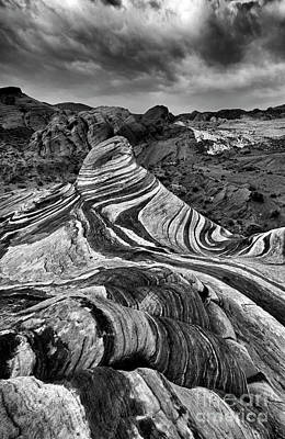 Photograph - Desert Stripes by Mike Dawson