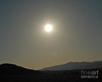 Art Print featuring the digital art Desert Sun by Walter Chamberlain