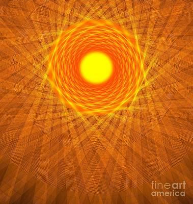 Digital Art - Desert Sun by Yali Shi