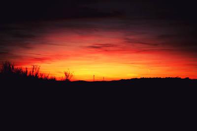 Desert Sundown Art Print