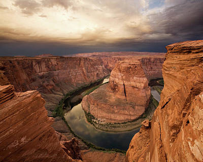 Desert Sunrise At Horseshoe Bend Print by Matt Tilghman