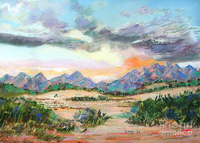 Painting - Desert Sunrise by Lucinda  Hansen