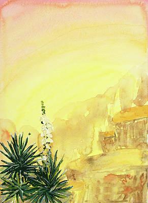 Vermeer Rights Managed Images - Desert Sunrise Royalty-Free Image by Nancy Beste