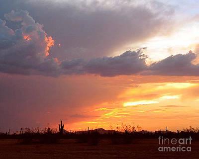 Photograph - Desert Sunset After The Storm by Merton Allen