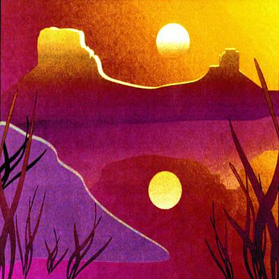 Desert Sunset Digital Art - Desert Sunset by BellaMonica Studios