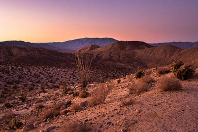 Photograph - Desert Sunset - Fading Light by Alexander Kunz