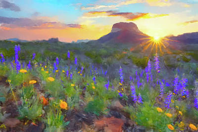 Painting - Desert Sunset by Gary Grayson