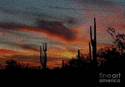 Photograph - Desert Sunset by Joseph Baril