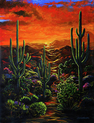 Painting - Desert Sunset by Lance Headlee