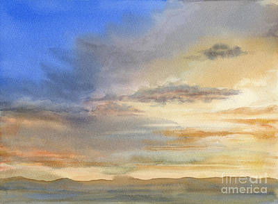 Desert Sunset Original by Sharon Freeman