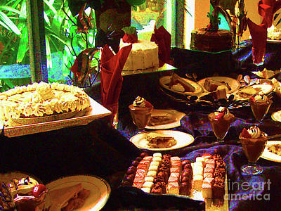 Photograph - Dessert Table On Father's Day by Merton Allen