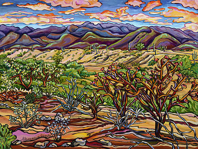 Saguaro Painting - Desert Tangle by Alexandria Winslow