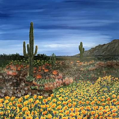 Wall Art - Painting - Desert Tapestry by Mary Arneson