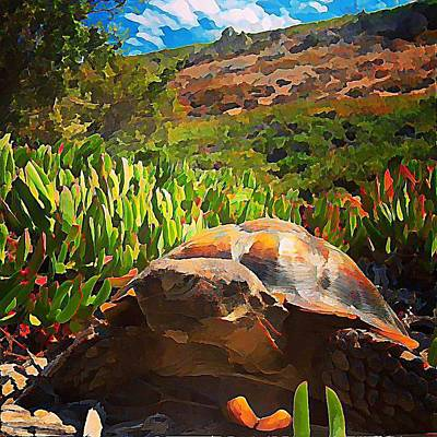 Habitat Wall Art - Digital Art - Desert Tortoise by Raven Hannah