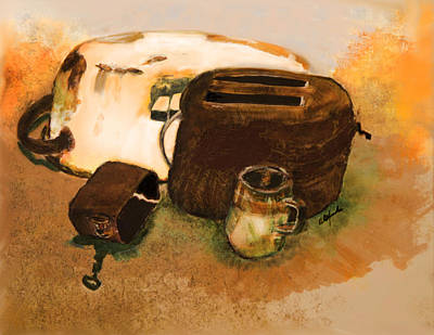 Toaster Mixed Media - Desert Treasures by Rhonda Alexander