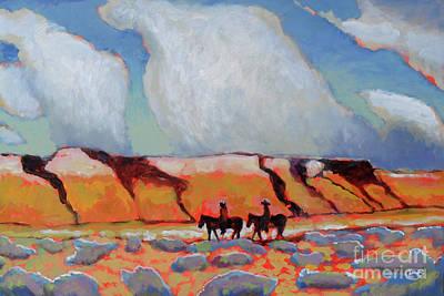 Maynard Dixon Painting - Desert Travelers by Kip Decker