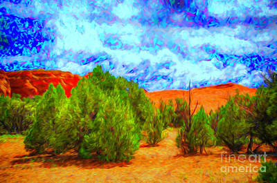 Digital Art - Desert Trees by Rick Bragan