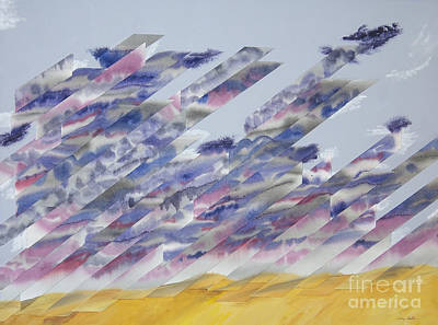 Wall Art - Painting - Desert Under Storm by Jeni Bate