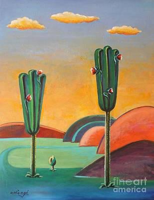 Painting - Desert by Ushangi Kumelashvili