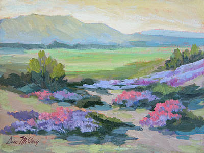 Art Print featuring the painting Desert Verbena 1 by Diane McClary