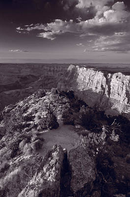 Desert View At Grand Canyon Arizona Bw Original by Steve Gadomski
