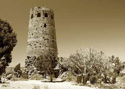Photograph - Desert View Tower Work Number 1 by David Lee Thompson
