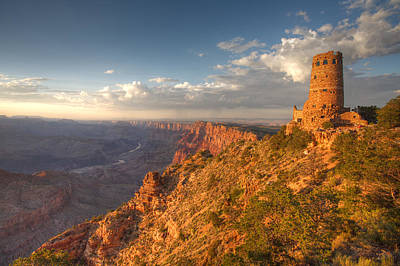 South Rim Photograph - Desert View Watchtower by Mike Buchheit