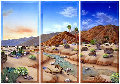 Stream Painting - Desert Vista by Snake Jagger