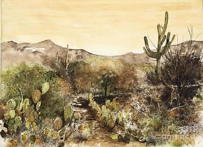 Desert Walk Art Print