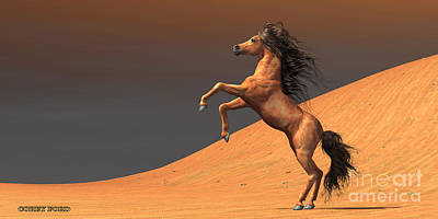 Sand Dunes Painting - Desert Wild Horse by Corey Ford