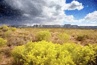 Painting - Desert Yellow Flowers by Gary Grayson