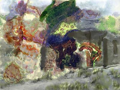 Digital Art - Desertabstract by Richard Baron