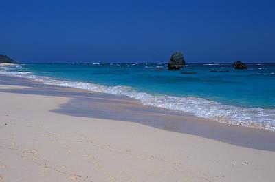 Deserted Beach In Bermuda Art Print by Carl Purcell
