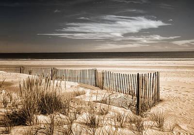 Photograph - Deserted Beach In Duo-tone by Carolyn Derstine