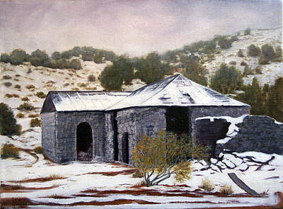 Painting - Deserted Chloride Arizona by Evelyne Boynton Grierson