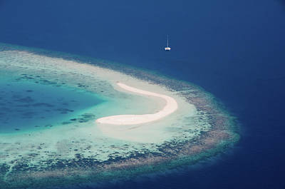 Photograph - Deserted Coral Island And Yacht by Jenny Rainbow