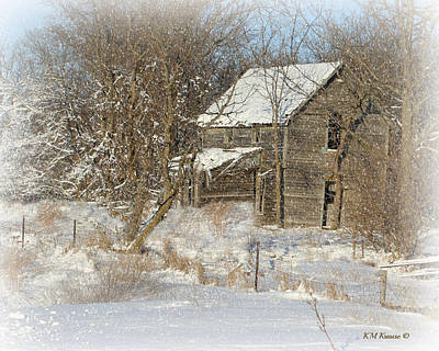 Photograph - Deserted Country Home by Kathy M Krause