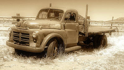 Photograph - Deserted Dodge Sepia by David King