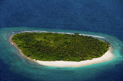 Photograph - Deserted Island In Blue Ocean. Maldives  by Jenny Rainbow