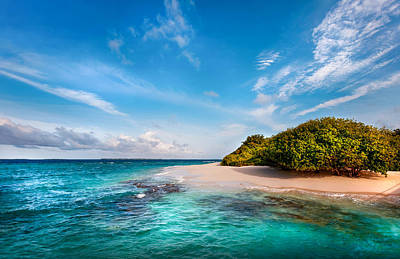 Photograph - Deserted Maldivian Island by Jenny Rainbow