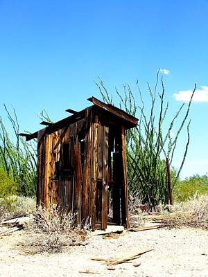 Desserted Photograph - Deserted Outhouse by Tammy Chesney