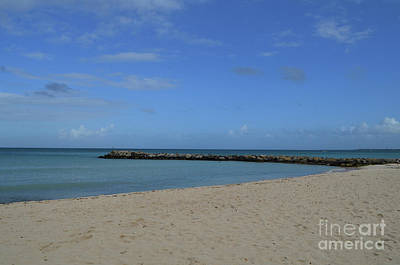 Photograph - Deserted Rock Jetty Along The Beach In Aruba by DejaVu Designs
