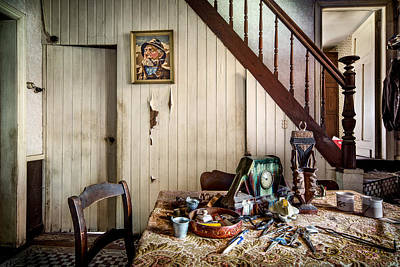 Abandoned Houses Photograph - Deserted Room In Abandoned House -urben Exploration by Dirk Ercken