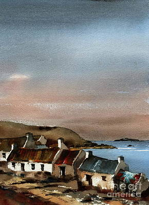 Painting - Deserted Village, Blasket Mor, Kerry by Val Byrne