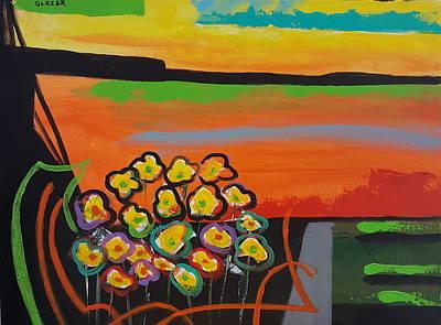 Wall Art - Painting - Desertscape Poppies by Stuart Glazer