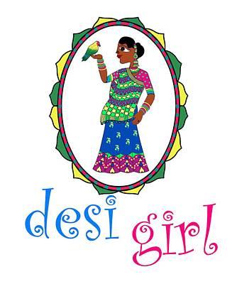 Digital Art - Desi Girl by Pratyasha Nithin
