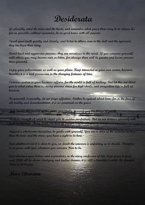 Photograph - Desiderata 12 by Steve Kearns
