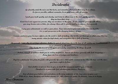 Photograph - Desiderata 21 by Steve Kearns