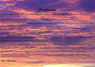 Photograph - Desiderata 22 by Steve Kearns