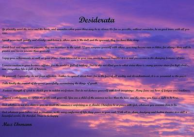 Photograph - Desiderata 23 by Steve Kearns
